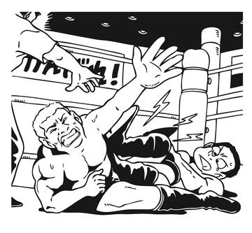 異種格闘技戦のイラスト