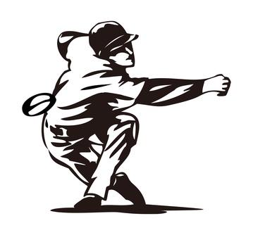 豪腕投手の画像