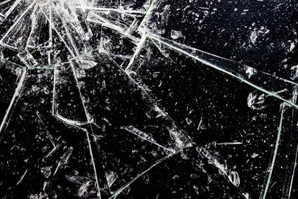 ガラスの傷
